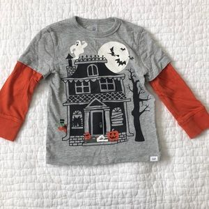 Gap boys Halloween T-shirt, peekaboo flaps, 2T